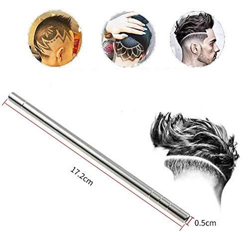 babyzhang Barthaarschere Augenbrauen schnitzen Stift Tattoo Friseur Friseurschere Augenbrauenöl Kopf schnitzen, 1