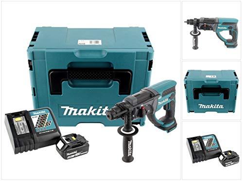 Makita DHR 202rt1j 18V Batería Martillo combinado SDS-Plus en Makpac con 5,0Ah Batería Y Cargador