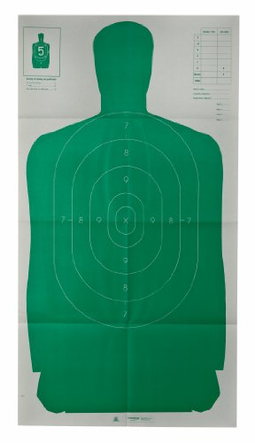 Champion Traps and Targets 40735 Champion LE 24x45-Inch Green Police B27FSA Silhouette Target (Pack of 10)