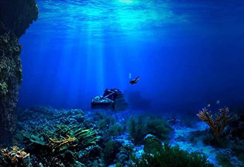 水槽 バックグラウンド 背景 壁紙 ポスター アクアリウム バックスクリーン 水族館 装飾ステッカー 雰囲気が変わり リアル 水槽 おしゃれ 接着シーワールド 海洋(61*30cm)