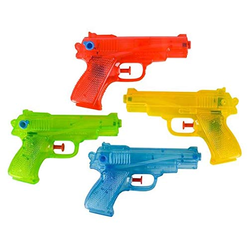 Rhode Island Novelty 6 Inch Water Squirt Guns, 2 Pack