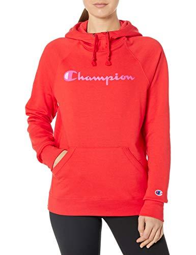Champion Damen Powerblend Graphic Hoodie Kapuzenpulli, Rote Flamme, XX-Large