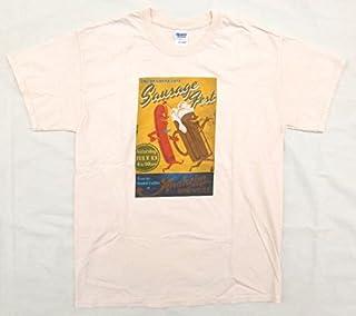 """【SAUSAGE FEST】  古着Tシャツ Lサイズ 生成り白 カリフォルニアで開催された """"ソーセージ祭り""""のTシャツ 値下げ♪"""