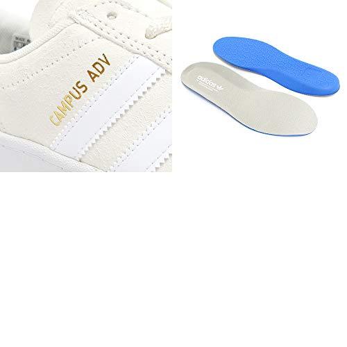 [アディダス]SHOESシューズスニーカーCAMPUSADVオフホワイト/白/ゴールドEG8577スケートボードスケボーSKATEBOARD27.5cm,-