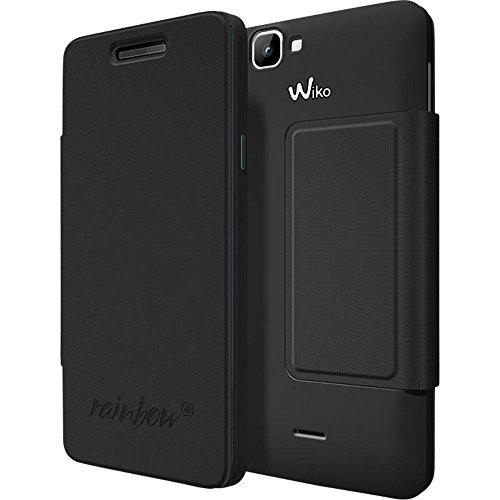 Wiko Original Flip Cover für Rainbow 4G schwarz