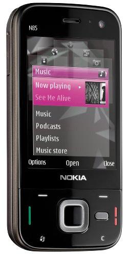 Nokia N85 2.6' 1200mAh Black - Smartphones (6.6 cm (2.6'), 320 x 240 pixels, Black)