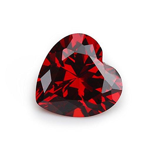 50PCS Size 3x3~12x12mm AAAAA Garnet Heart Shape Europe Machine Cut Loose Cubic Zirconia CZ Stone For Jewelry Diy (6x6mm 50pcs)
