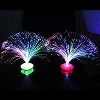 1PCS美しいロマンチックな色を変えるLED光ファイバー常夜灯ランプ小さな常夜灯クリスマスパーティー家の装飾