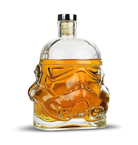 Monsterzeug Stormtrooper Whisky Karaffe, Whiskey Gefäß, Karaffe aus Glas mit Korkenverschluss - Füllmenge 750 ml