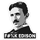 DKISEE 3 pegatinas de Nikola Tesla (is a Boss), Nikola Tesla para ordenador portátil, teléfono, coches, vinilo divertido adhesivo para ordenadores portátiles, guitarra, nevera, 4 pulgadas