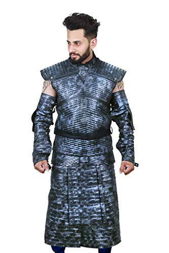 F&H Men's Game of Thrones The Night's King White Walker Costume 2XL Black
