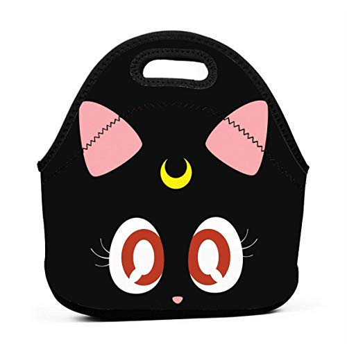 DJNGN Luna Kawaii Cat Lunch Bag Reusable Insulated Tote Container Lunch Box for Women Kids Students