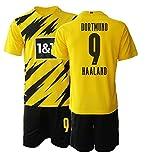 TAOZHUANG 20/21 Niños HAALAND 9# Camiseta de fútbol Camiseta de Jugador (Niños de 4 a 13 años) (24)