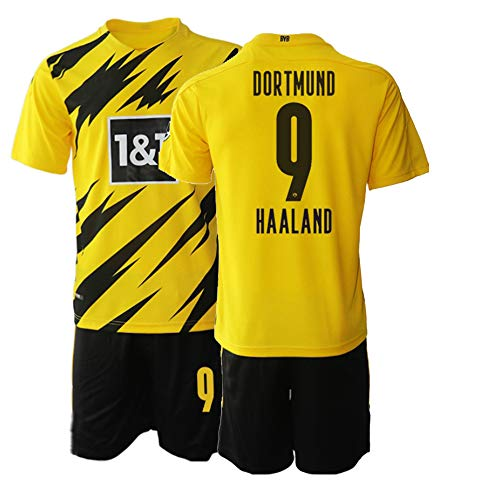 TAOZHUANG 20/21 Niños HAALAND 9# Camiseta de fútbol Camiseta de Jugador (Niños de 4 a 13 años) (22)