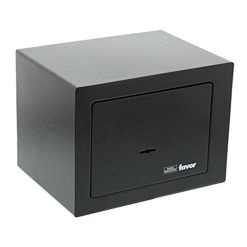 BURG-WÄCHTER Möbeltresor mit Schlüssel, Favor, 5,2 l, 3,3 kg, S1 K, schwarz