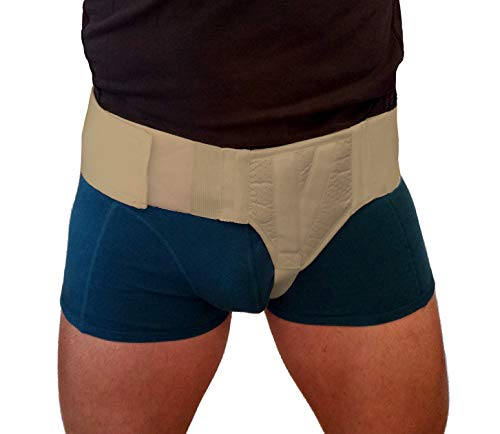 Hernia Gear Left Side Inguinal Hernia Groin Belt Beige (S 26-30)