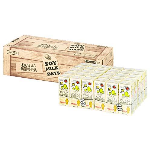 [Amazon限定ブランド] キッコーマン飲料 おいしい無調整豆乳 SOYMILK DAYS 200ml×30本