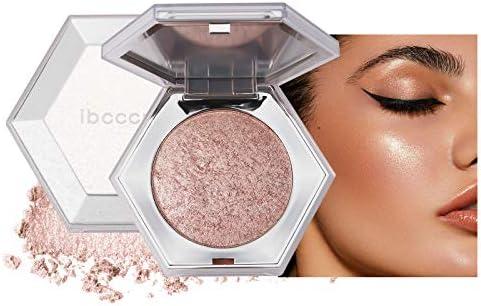 Mimore Highlighter Highlight Powder Palette Facial Makeup Glow Highlight Highlighting Shimmering Powder (02)