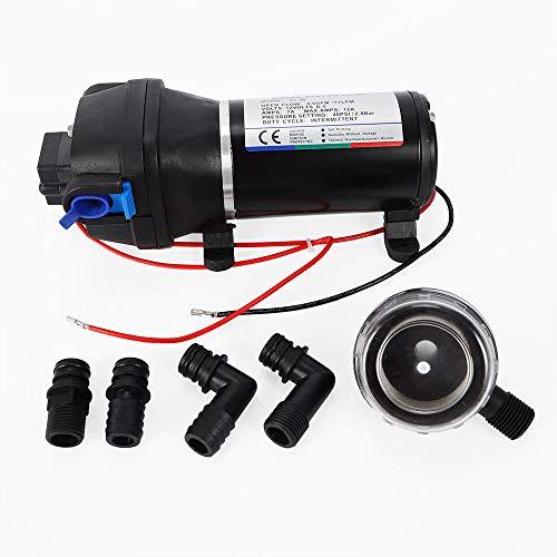 Aohuada 12V 40psi Hochdruckpumpe Druckwasserpumpe Membranpumpe Wasser Pumpe 4.5GPM für Auto waschen Boot Reinigung und Garten Bewässerung