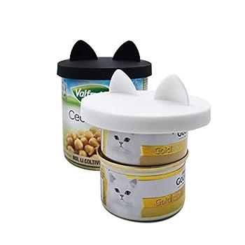 GuMan Coque en silicone pour animal domestique Peut couvertures Lids-2 Lot pour animal Chat Nourriture Top One Size Fits All Standard Taille Chien et pour couvercle de Coque en silicone universelle