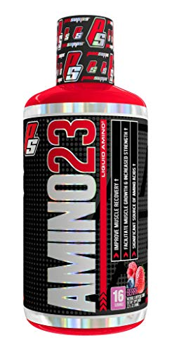 ProSupps Amino23 Post-Workout Liquid Shot, Collagen Peptides and Whey Protein, (16 Servings, Berry)
