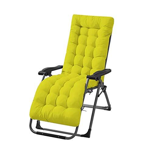 Almohadillas de cojín de lazo de sol, cojín largo plegable espesado silla cojín de doble cara tatami mata reclinación sillas de jardín silla de jardín ventana ( Color : Green , Specification : 125cm )