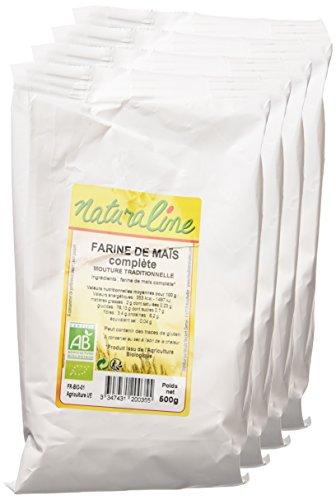 Moulin des Moines Farine de Maïs Complète Extraction 98% Garanti sans OGM Bio 500 g - Lot de 5