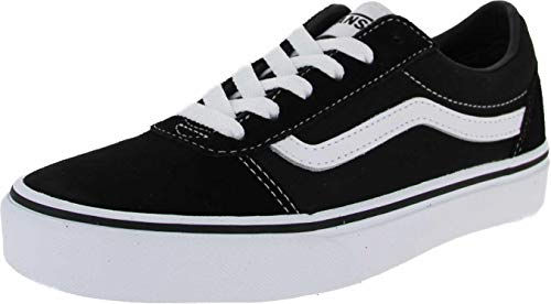 Vans Unisex-Kinder Ward Suede/Canvas Sneaker, Schwarz ((Suede/Canvas) Black/White Iju), 34 EU