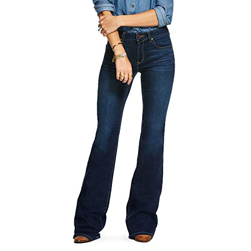 ARIAT Women's Ultra Stretch Perfect Rise Katie Flare Jean Maya Size 34W X Regularl