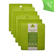 deltaXTRA Swedish Sponge Cloth Hang Up to Dry House-Shaped Eyelet Eco-Friendly Reusable Absorbent Cellulose Cleaning…