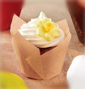 Mini Tulip Cupcake Liners Natural Color 2''x 1 1/4'' x 2 3/4''- 150pcs