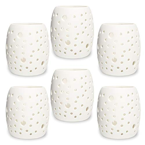 Findley Votive Candle Holders Bulk Tealight Candle Holder | (Set of 6) Candle Centerpieces for Tables, Candle Holder Centerpiece | Tea Lights Candle Holder, Votives Tealight Holder, Tea Light Holder