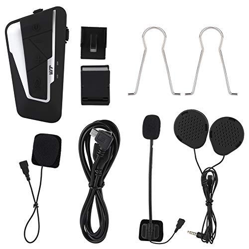 Auriculares Bluetooth para Motocicleta, 1200 m, Estéreo, Estéreo, Dúplex Completo, Auriculares Bluetooth para Motocicleta, Casco, Intercomunicador, Auricular para ATV/Dirt Bike/Off Road
