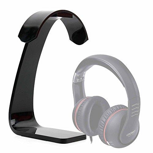 DURAGADGET Soporte para Auriculares Lindy BNX-60 / Medion LIFEBEAT Kopfhörer Life E69378 (MD 84861) / Polk Audio Buckle, Hinge Wireless, Hinge, Rogue con recogecables. Color Negro.