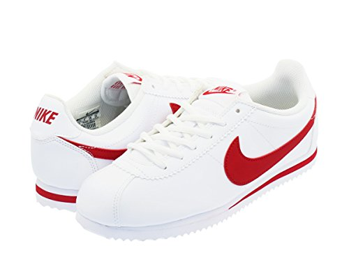 [ナイキ] CORTEZ GS WHITE/UNIVERSITY RED [並行輸入品]