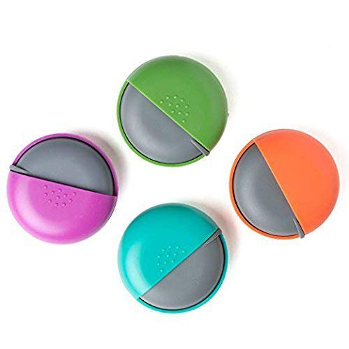 LazyMe Decorative Pill Box for Purse Locking Small Daily Case (Group, 4)