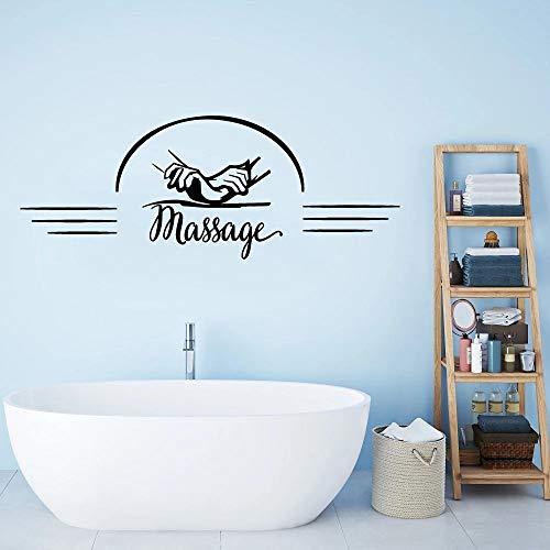 Salón de masajes pegatinas de pared sala de spa relajante terapia de manos bienestar vinilo windows videojugadores