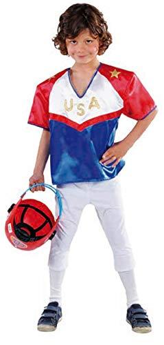 narrenkiste M214065-176-A blau-rot Junge Kinder American Football Kostüm Sport Uniform Gr.176