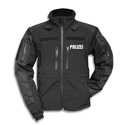 Copytec Tactical Softshell Jacke Polizei Behörde Einsatzkleidung Dienst Kommissar #30190, Größe:XL, Farbe:Schwarz