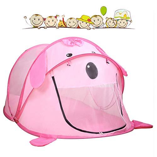 Kinderen cartoon pop-up play tent, [1 deur en 2 ramen] indoor speelgoed huis, oversized ballenbad, opvouwbaar, geschikt voor 1-7 jaar oud prinses/baby/kids,4