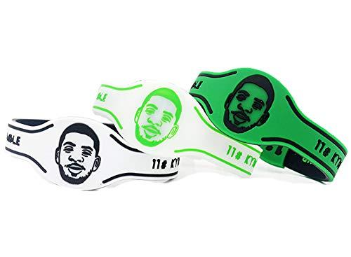 GEHIYPA Brooklyn Nets, Basketball-Silikon-Armband, wasserdicht, 3 Stück, verschiedene Farben, Sportgeschenke, Partyzubehör und Zubehör, Kyrie Irving, 3 PCS