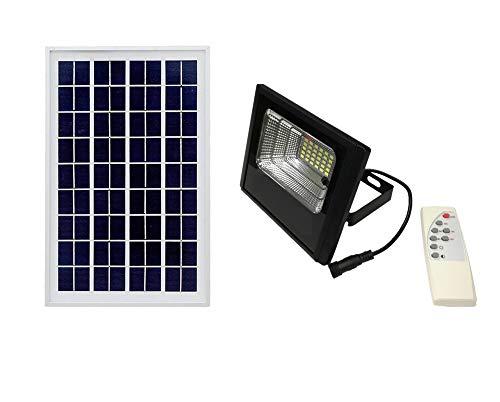 FARO FARETTO LED SMD PANNELLO SOLARE ENERGIA CREPUSCOLARE TELECOMANDO JD - Watt 10W