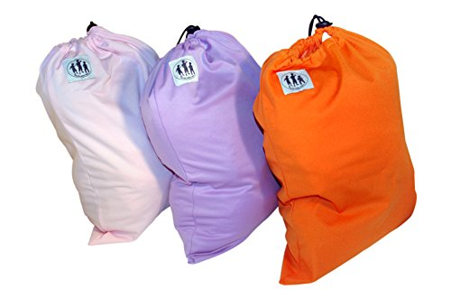 Sacs colorés hermétiques, résistants à l'humidité, pour langes en tissu - Lot de 3 - Couleurs: orange, violet et rose