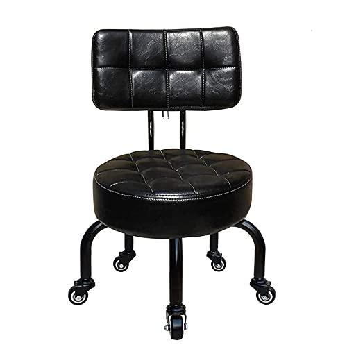 QLIGAH Sgabello per Pedicure con Ruote Sgabello Sgabello Bambino Desk per Adulti Piccoli sedie Sedile Imbottito con Ruote rotolabili Home Pedicure Sedie