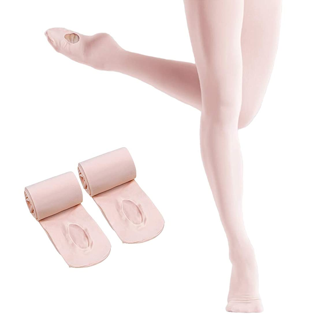 Ballet Tights for Girls,Dance Convertible Ballet Tights,Ultra Soft Ballet Ballet Footed Tights With Holes