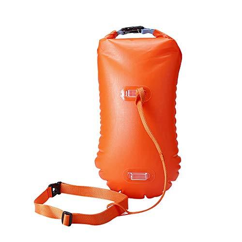 Mufee Große aufblasbare offene Wasser-Boje für Schwimmer, Triathleten, leicht und sichtbar für sicheres Training und Schnorchler