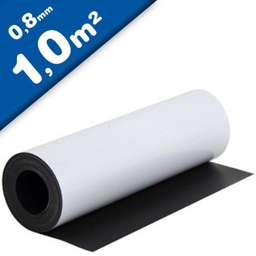 Lámina magnética blanco mate 0,8mm x 1m x 1m - crear imanes personalizados, adhiere a todas superficies metálicas: Amazon.es: Hogar