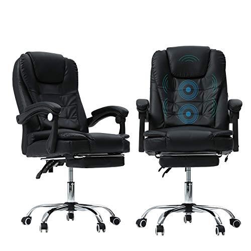 JCXOZ Büro Massage Lehnstuhl stilvoller justierbarer Gaming Chair Sitzkopfstütze Ergonomische mit Fußrasten Lehner mit Lendenwirbelstütze Höhe Bürostühle
