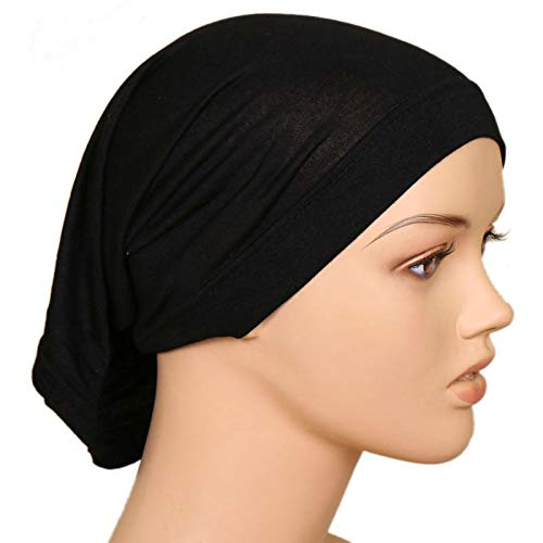 Bufanda Color Liso Mujeres Bufanda Diadema Maxi Arrugado Nube Hijab Musulmán Chal Largo Estola Abrigo 180X95 Cm 68 Colores Tubecapblack