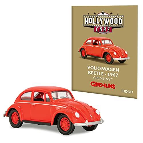 Miniatura Volkswagen Beetle. 1967 Gremlins + Mini Revista | Auto Metálico Estilo Vintage | Vehículos Antiguos de Películas y Televisión Para Coleccionistas | Edición Especial Retro Ideal para Regalo